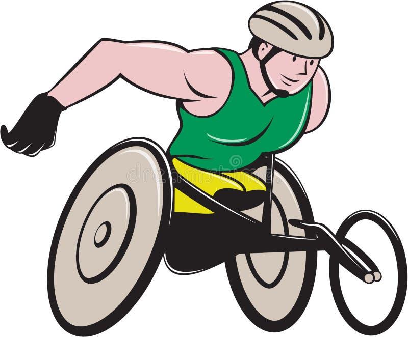 Competência do piloto da cadeira de rodas ilustração do vetor