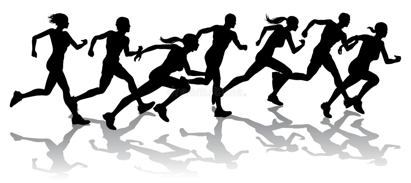 Competência dos corredores ilustração royalty free