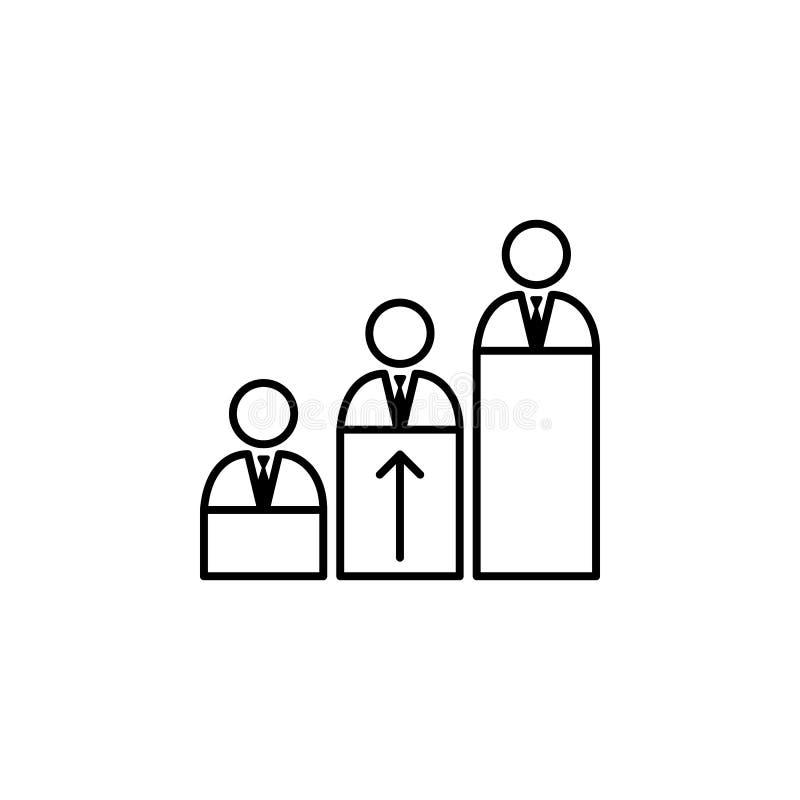 Competência, habilidades, ícone dos trabalhadores no fundo branco Pode ser usado para a Web, logotipo, app móvel, UI, UX ilustração do vetor