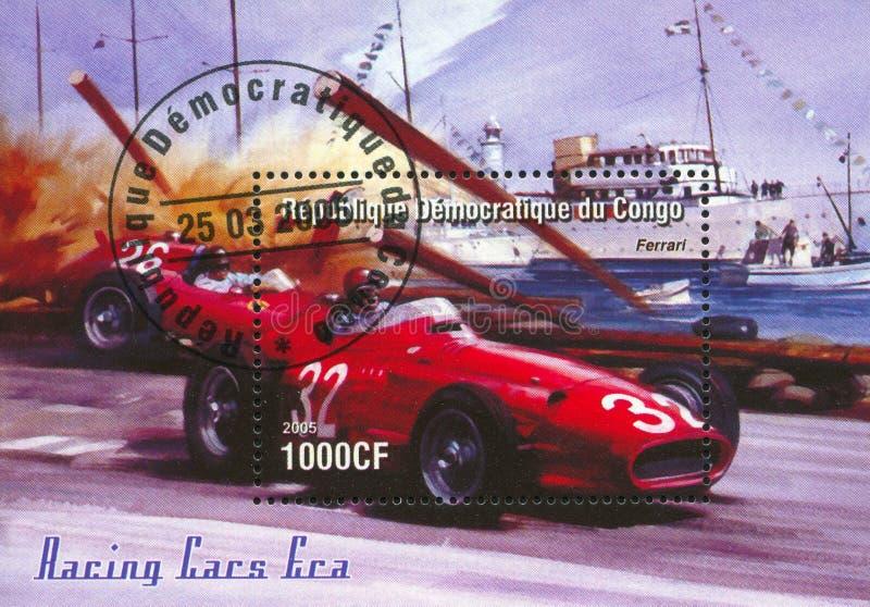 Competência no Fórmula 1 foto de stock