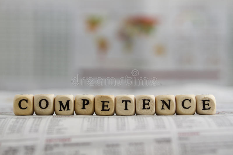 competence imagem de stock