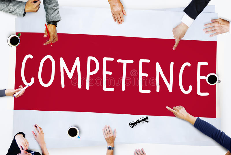 Competence Skill Ability Proficiency Accomplishment Concept.  royalty free stock photos