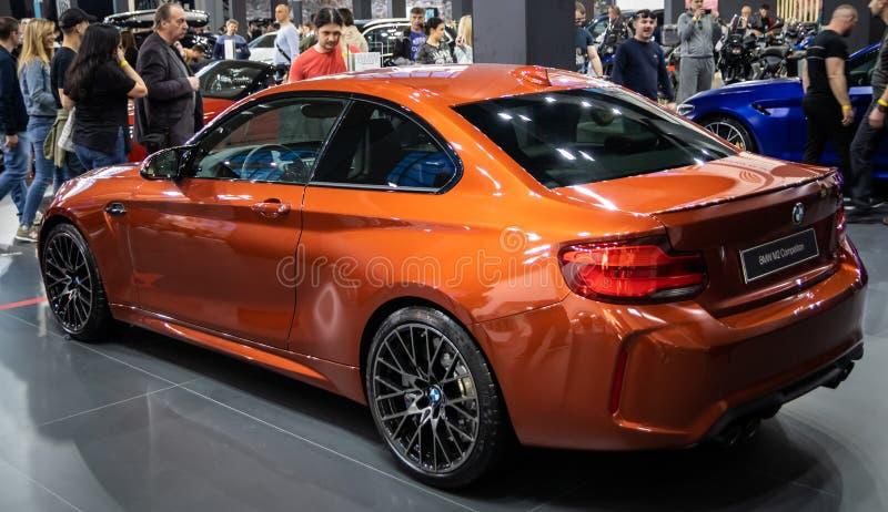 Competencia anaranjada metálica de BMW M2 fotos de archivo