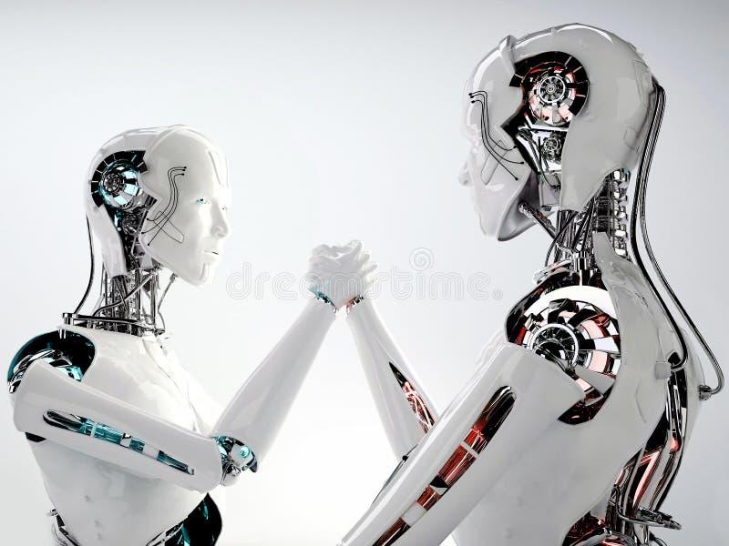 Competencia androide de los hombres del robot libre illustration