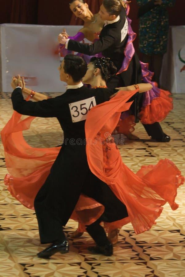 Competencia de la danza del estándar abierto, 16-18 (3) fotos de archivo libres de regalías