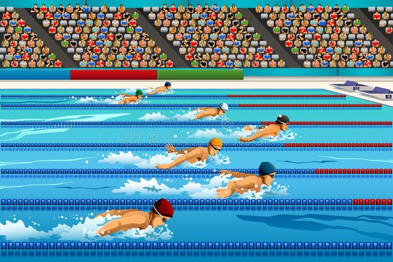 Competencia de la natación libre illustration
