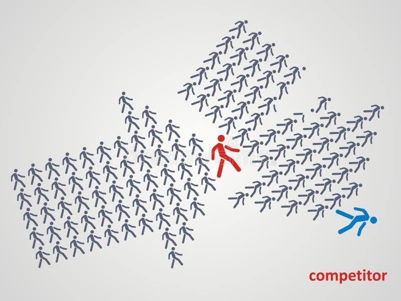 Competencia de lucha concepto del competidor ilustración del vector