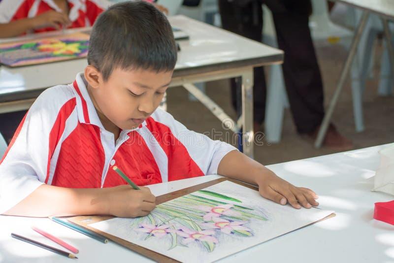 Competencia del dibujo del estudiante foto de archivo