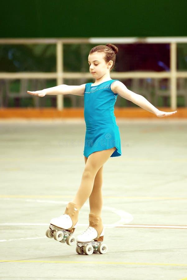 Competencia del patinaje artístico imagen de archivo