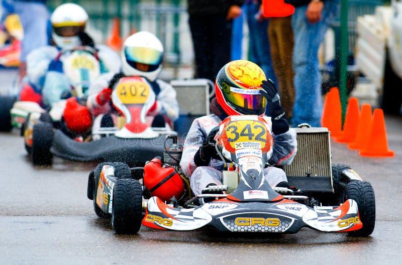 Competencia nacional de karting ordenada por Amckart fotografía de archivo libre de regalías
