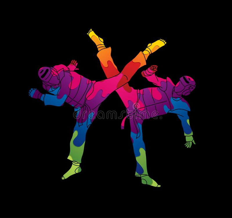 Competencia que lucha del Taekwondo libre illustration