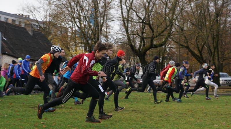 Competencias, orientación de los deportes, participantes, Letonia, fotos de archivo libres de regalías