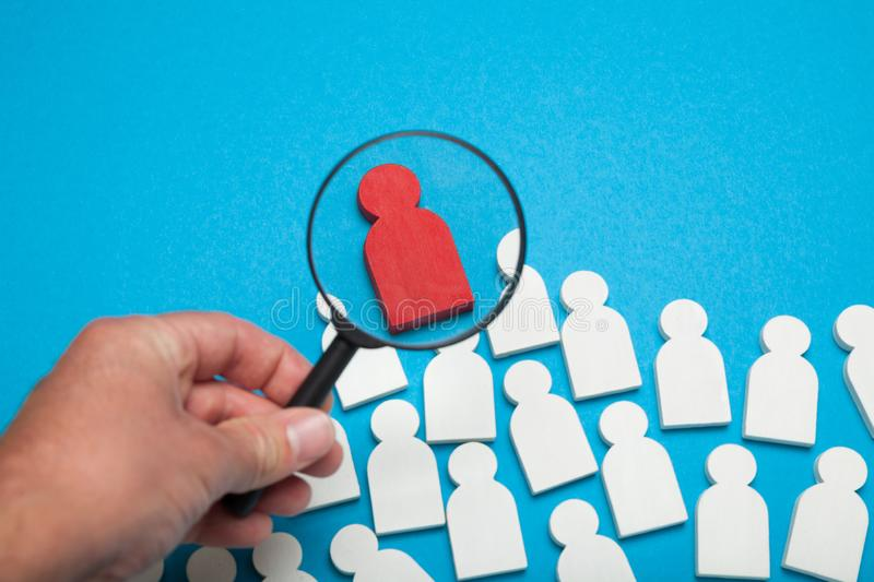 Competent match candidate, choose people. Best client and customer segment.  royalty free stock photos