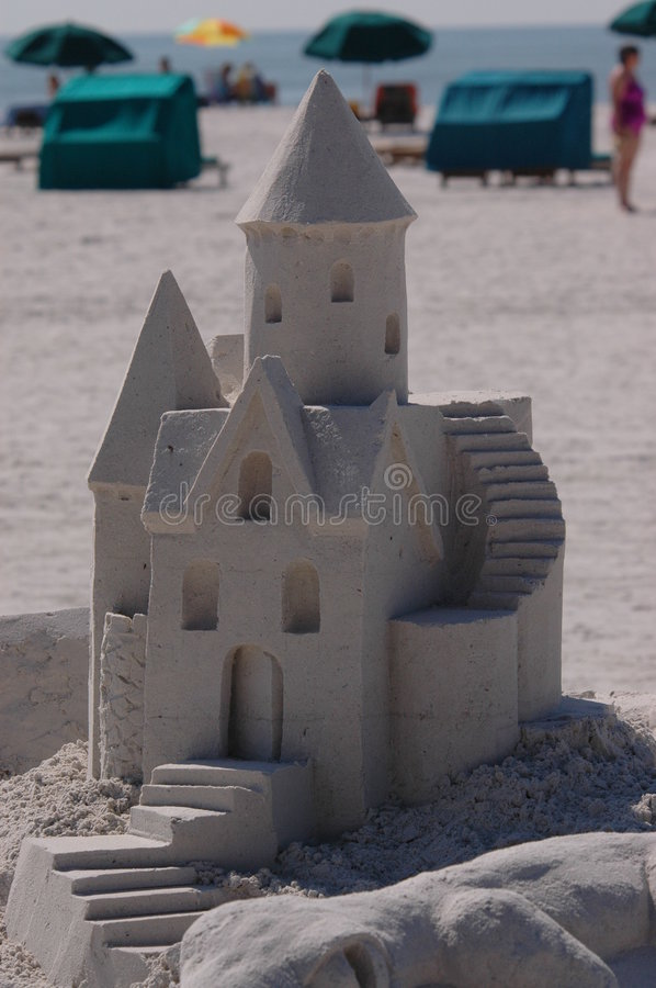 Competição 1 do Sandcastle fotografia de stock royalty free