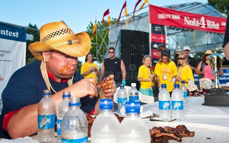 Competição comer do reforço para a caridade. fotos de stock royalty free