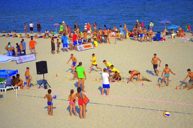 Competição da praia do verão imagem de stock royalty free
