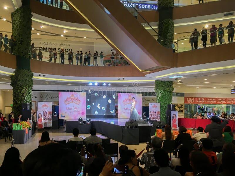 Competição de beleza nas Filipinas imagem de stock