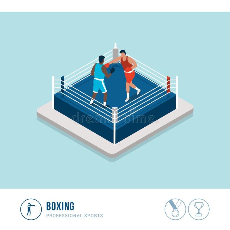 Competição de esportes profissionais: encaixotamento ilustração stock