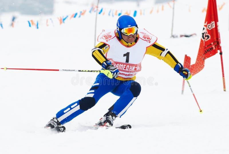 Competição do esqui do inverno fotos de stock royalty free