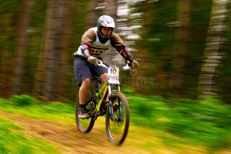 Competição do extremo da bicicleta de montanha imagem de stock royalty free