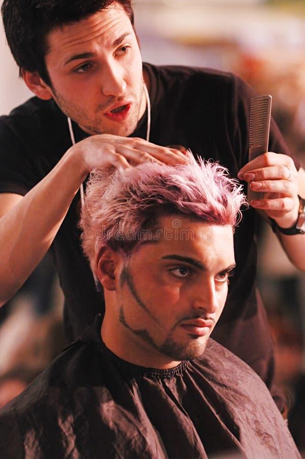 Competição do Hairdressing fotografia de stock royalty free