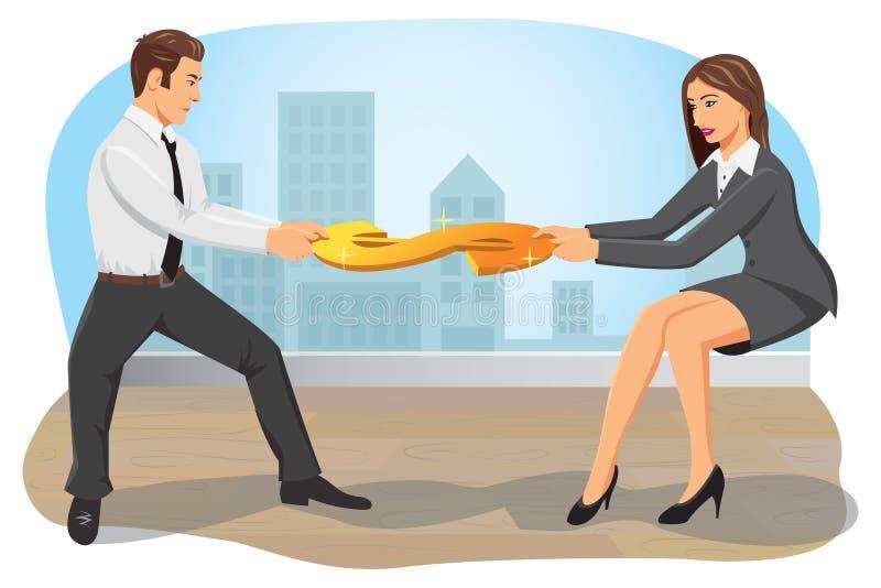 Competição do negócio ilustração do vetor
