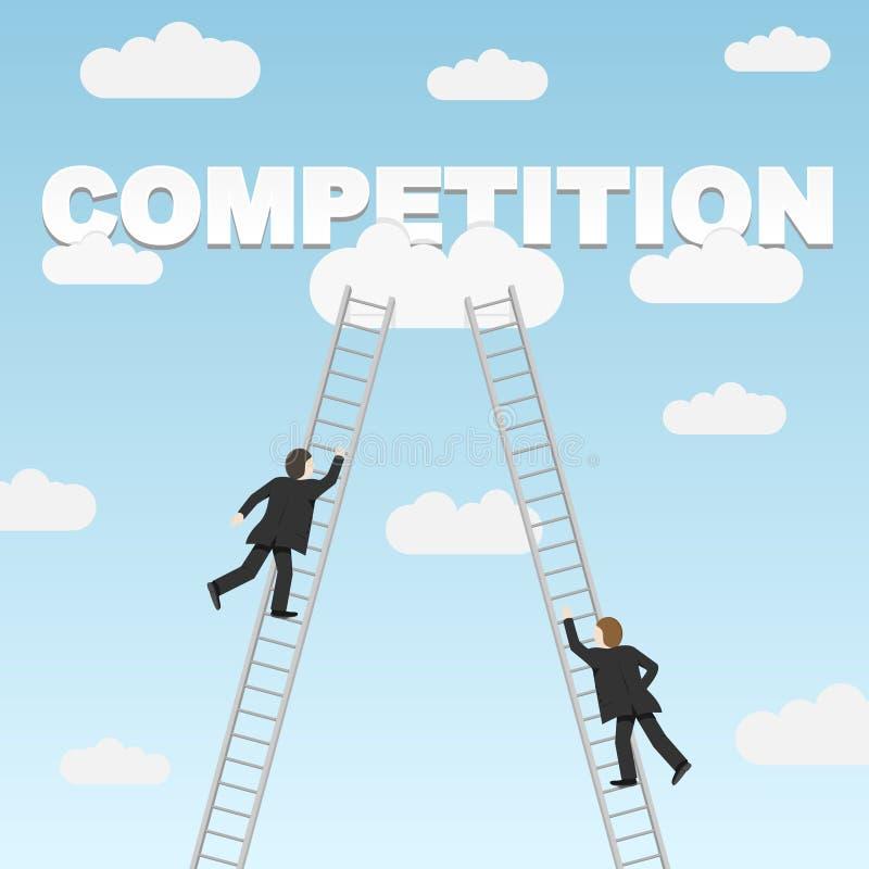 Competição do negócio entre dois homens de negócios ilustração stock
