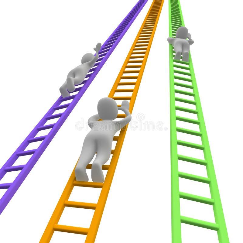 Competição e escadas ilustração royalty free