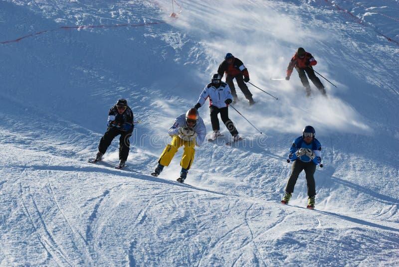 Competição extrema do esqui imagens de stock
