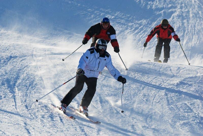 Competição extrema do esqui fotografia de stock royalty free