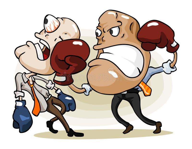 Competição insalubre do negócio. ilustração royalty free