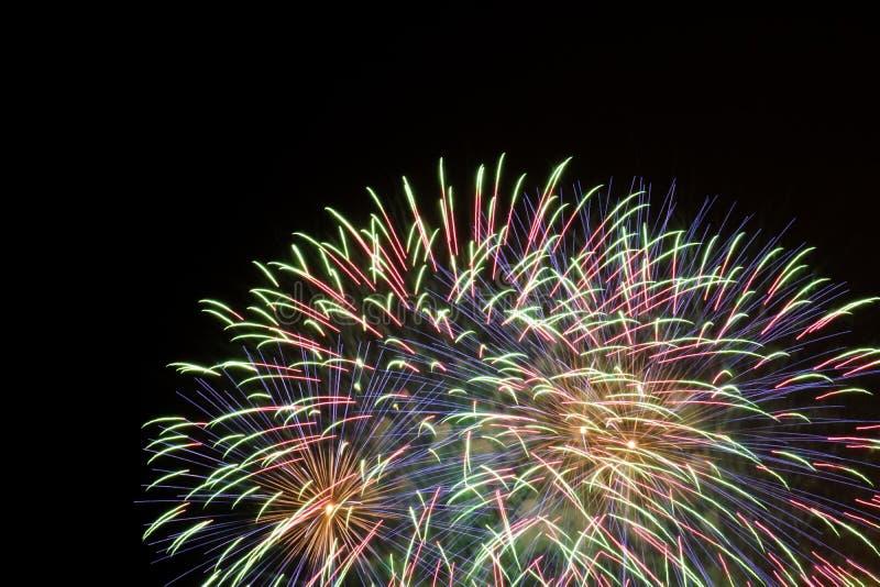 Competição internacional dos fogos-de-artifício da cidade de Tarragona fotografia de stock