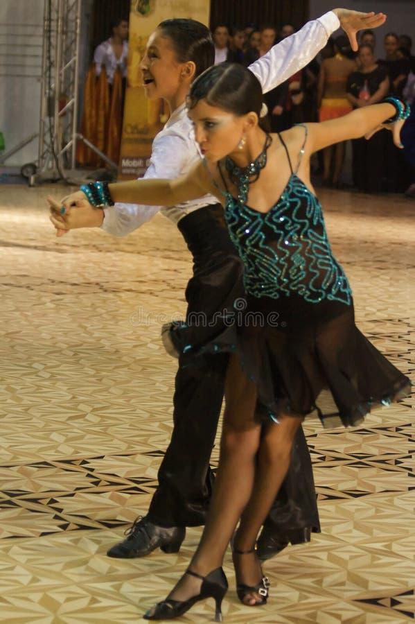 Competição Latin da dança imagens de stock