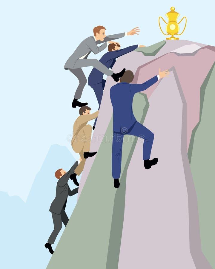 Competição no negócio ilustração do vetor