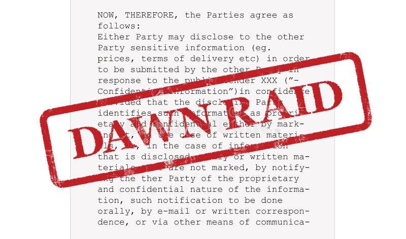 Competi??o Dawn Raid Concept Contrato ilustração stock