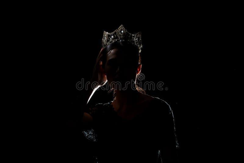 Competi??o Diamond Crown da senhorita Pageant Beauty Queen fotos de stock