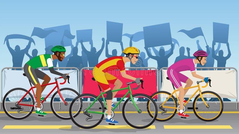 Competiam de competência da bicicleta ilustração do vetor