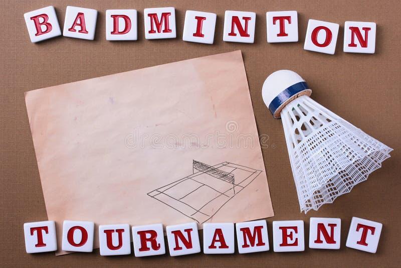 Competiam do Badminton imagens de stock royalty free