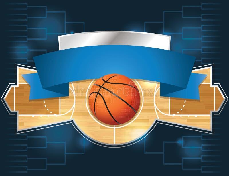 Competiam do basquetebol ilustração royalty free