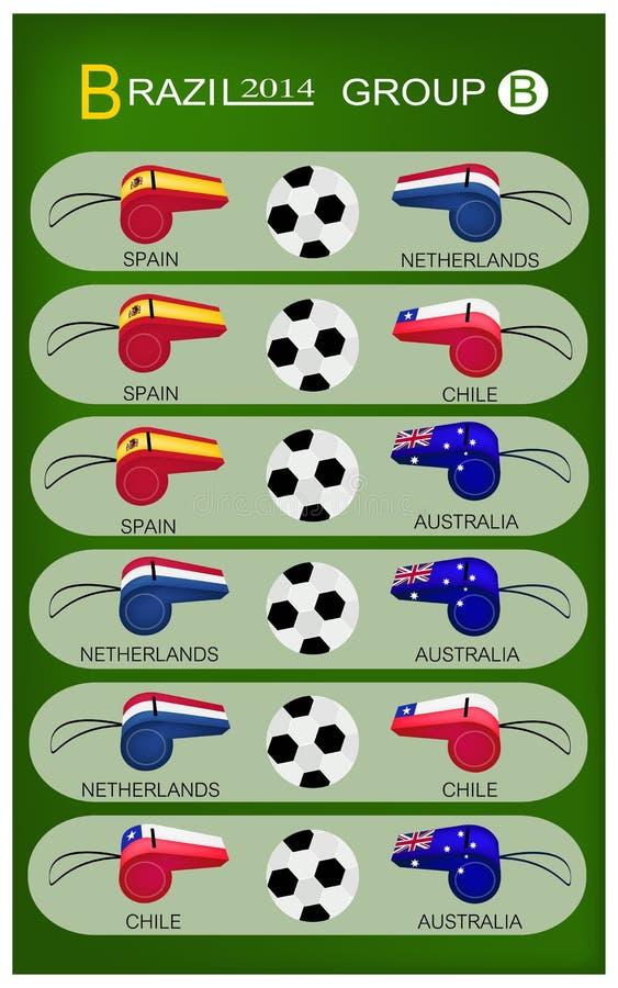 Competiam do futebol do grupo B de Brasil 2014 ilustração do vetor