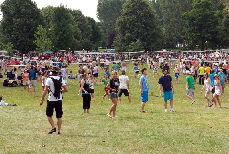 Competiam do voleibol de H.O.P.E em Ottawa imagens de stock