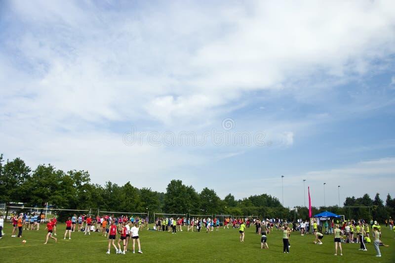Competiam do voleibol, Holland imagens de stock royalty free