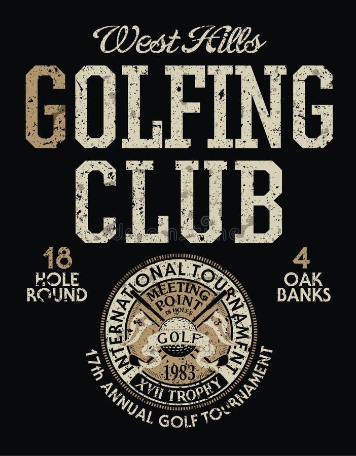 Competiam internacional do golfe ilustração royalty free