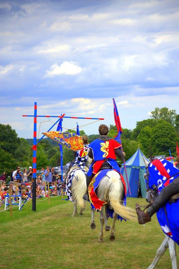 Competiam Jousting do castelo de Hever foto de stock royalty free