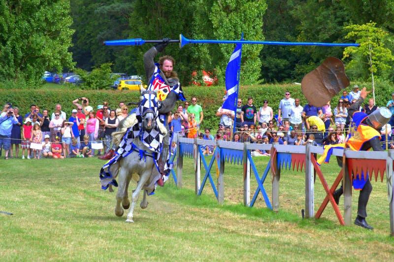 Competiam Jousting internacional Hever Inglaterra fotografia de stock