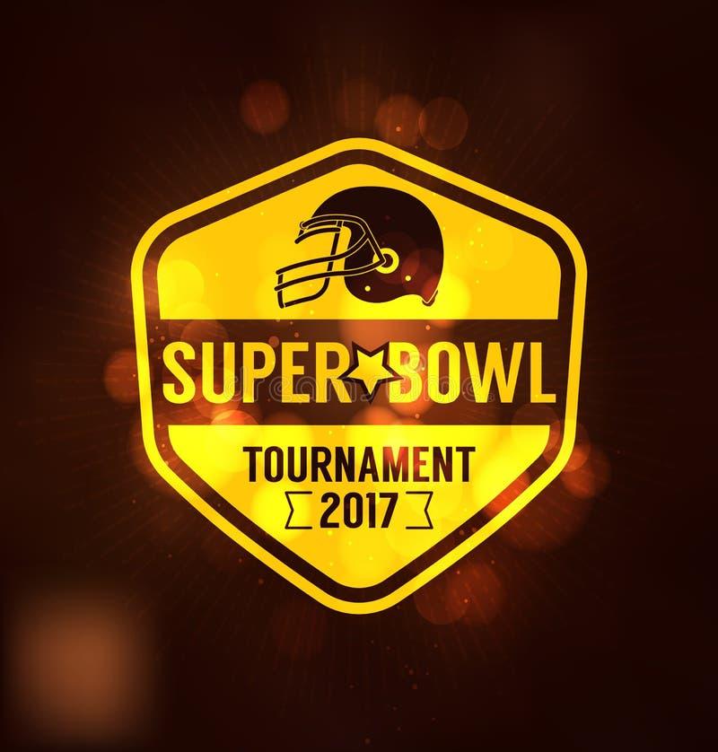 Competiam Logo Sport Design Template do Super Bowl ilustração stock