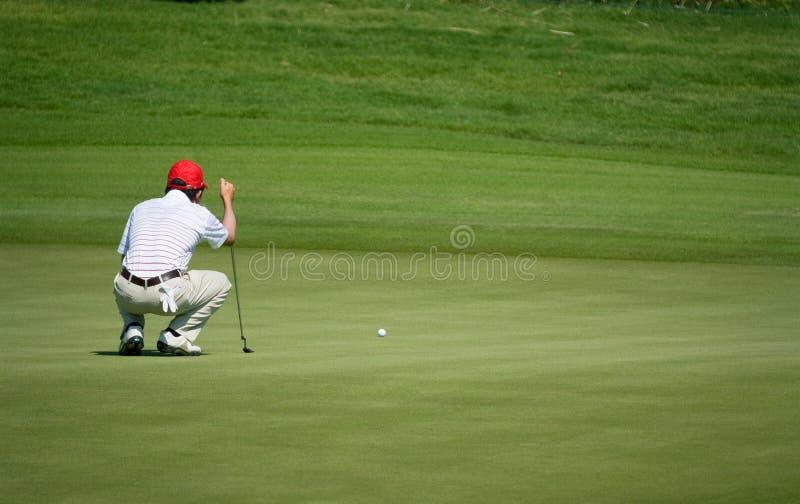 Competiam real do golfe do troféu, Ásia contra Europa 2010 fotos de stock