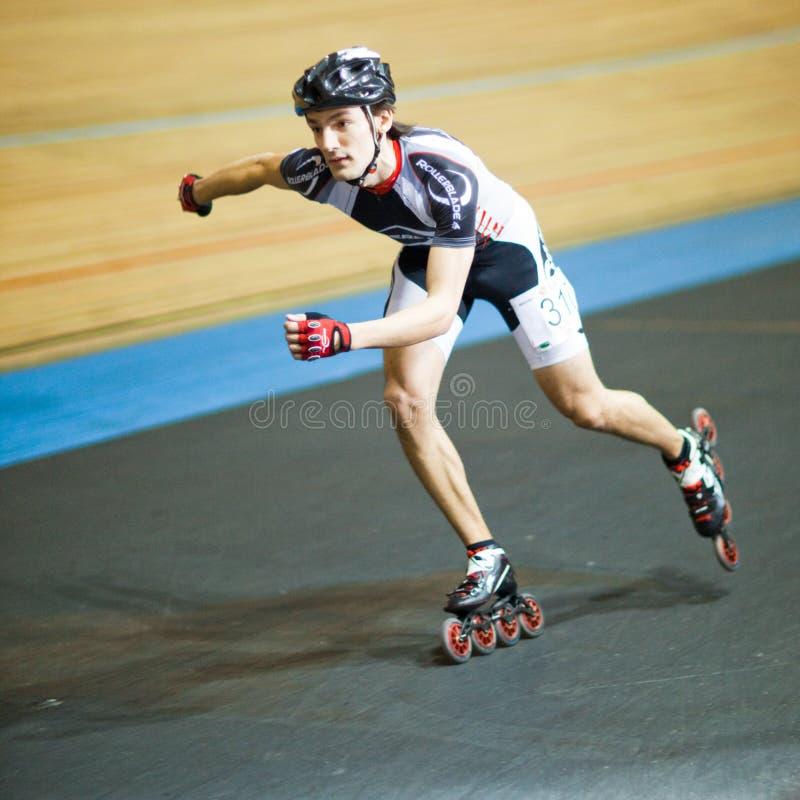 Competición del Rollerskating foto de archivo libre de regalías