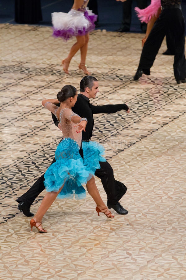 Competición latina - la danza domina 2012 imagenes de archivo