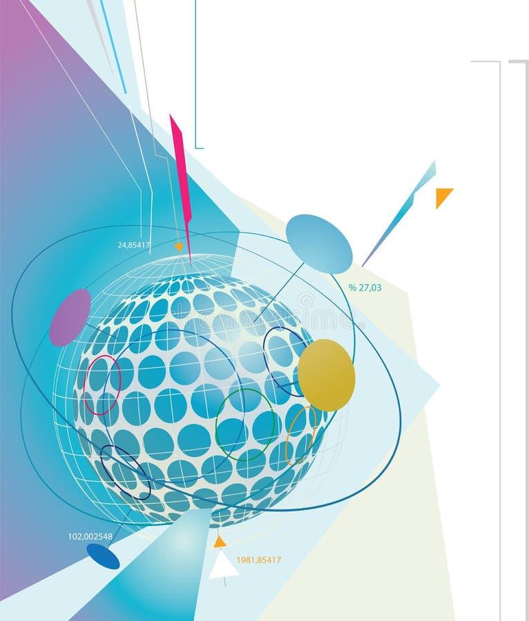Competición mundial ilustración del vector